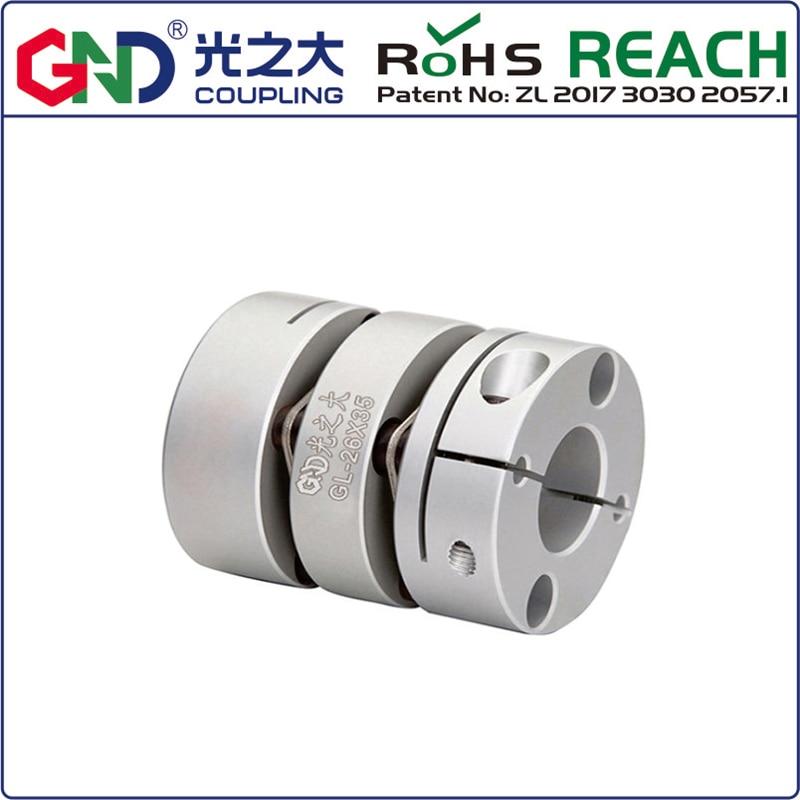 Купить с кэшбэком Couple GL alloy double diaphragm clamping series Shaft Coupling for steppermotor