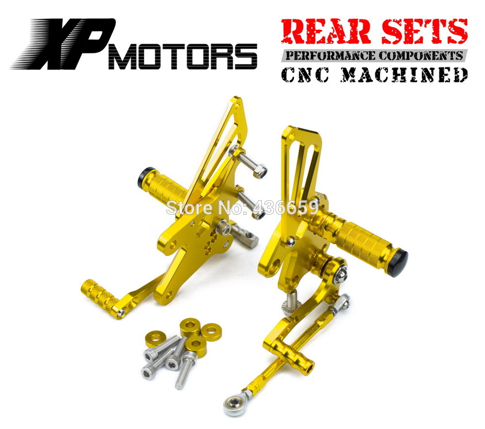 Gold Race CNC  Adjustable Foot Pegs Rear Sets For Kawasaki Ninja 250R EX250 2008 2009 2010 2011 2012 2013Gold Race CNC  Adjustable Foot Pegs Rear Sets For Kawasaki Ninja 250R EX250 2008 2009 2010 2011 2012 2013