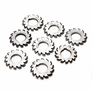 8pcs New M1 PA20 20 Degree HSS Involute Gear Cutters Set #1-8 Assortment Kit For Power Tool