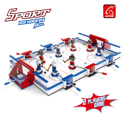Kits de construction de modèles compatibles avec le logo ville hockey sur glace jeu de société football blocs 3D jouets éducatifs loisirs pour enfants - 2