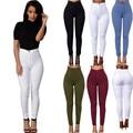 2016 Feitong Brand Jeans Mujeres Pantalones Lápiz Pantalones Vaqueros de Cintura Alta Sexy Pantalones Flacos Elásticos Delgados Pantalones Vaqueros Señora Apta Plus tamaño