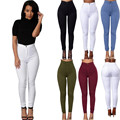 2016 Feitong Brand Jeans Women Pencil Pants High Waist Jeans Sexy Slim Elastic Skinny Pants Trousers Fit Lady Jeans Plus Size