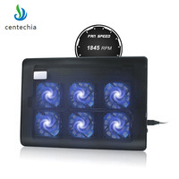 Centechia New Laptop Cooler 2 USB Ports And Six Cooling Fan Laptop Cooling Pad Notebook Stand