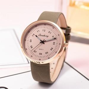 Женские кварцевые часы, повседневные часы с кожаным ремешком, аналоговые кварцевые круглые наручные часы, часы Relogio Feminino 4,2, 2019