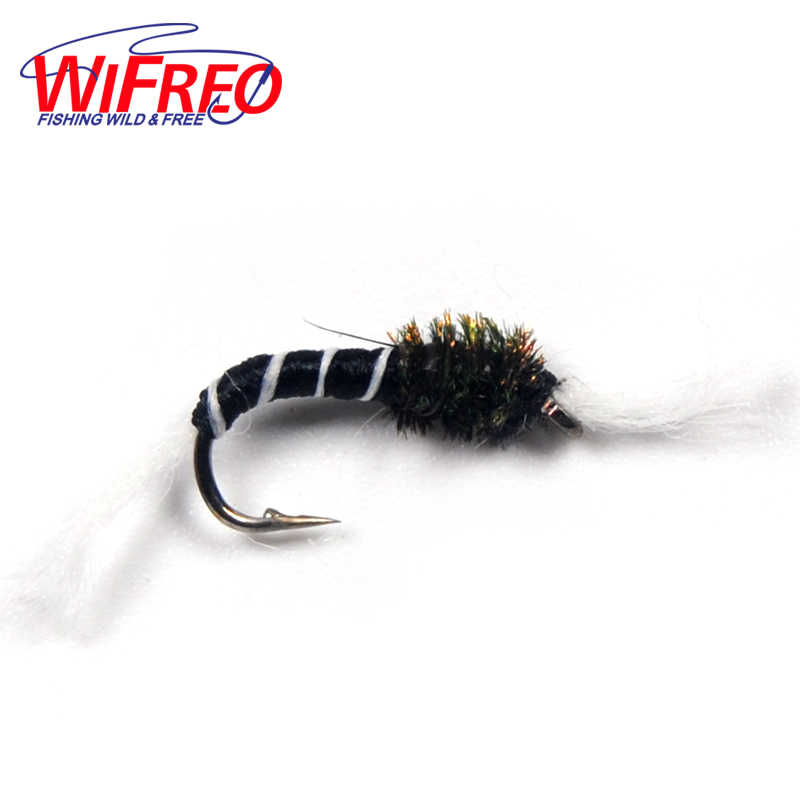 Black Vibrating Nymph Wet Fly Fishing Trout Flies