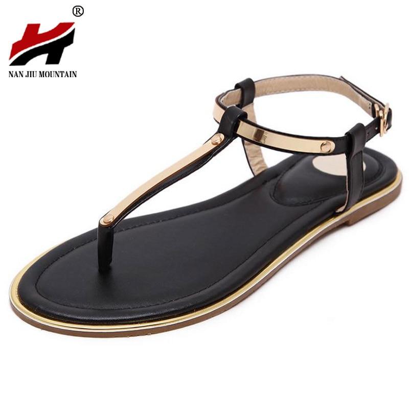 Large Size 35-40 Women Sandals 2017 New Flat Sandals Women Summer Shoes  Sequined Ladies - Popular Gold Flat Sandals-Buy Cheap Gold Flat Sandals Lots From