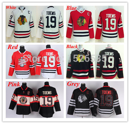 ad118546dc6 Free Shipping Authentic Men's Winter Classic Chicago Blackhawks Hockey Jersey  19 Jonathan Toews Jerseys Black White Red C Patch