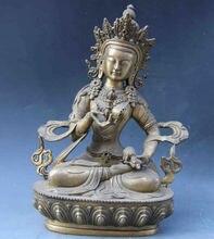 9 Copper Brass Green Tara Vajradhara Vajrasattva Guan Yin Kwan-yin Buddha Statue