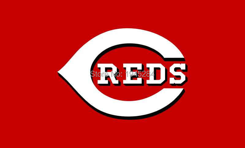 MLB Cincinnati Reds Flag Banner 005 Red New 3x5ft 90x150cm Polyester 8813, free shipping