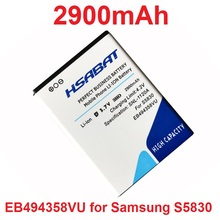 HSABAT 2900mAh EB494358VU Battery For Samsung Galaxy Ace S6802 B7510 i569 i579 i619 S5660 S5670 S5830I S5838 S6102 S6108 S5830