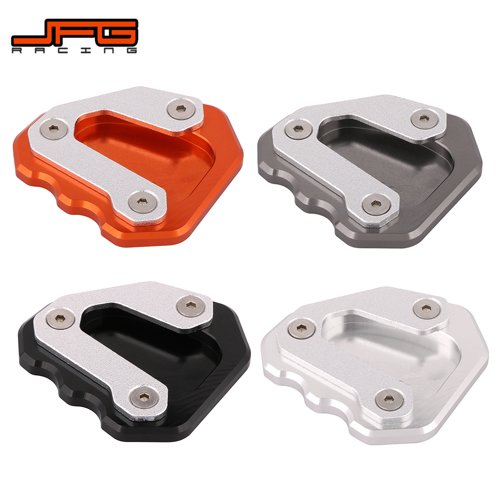 Motorcycle Aluminum Kickstand Foot Side Stand Extension Pad Support Plate For KTM 1290 Super Duke GT 2013-2018