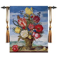68x80cm Decorative belgium Wall hanging Tapestry Floral Wall Blanket Cloth Gobelin Moroccan Decor Home retro painting fabric
