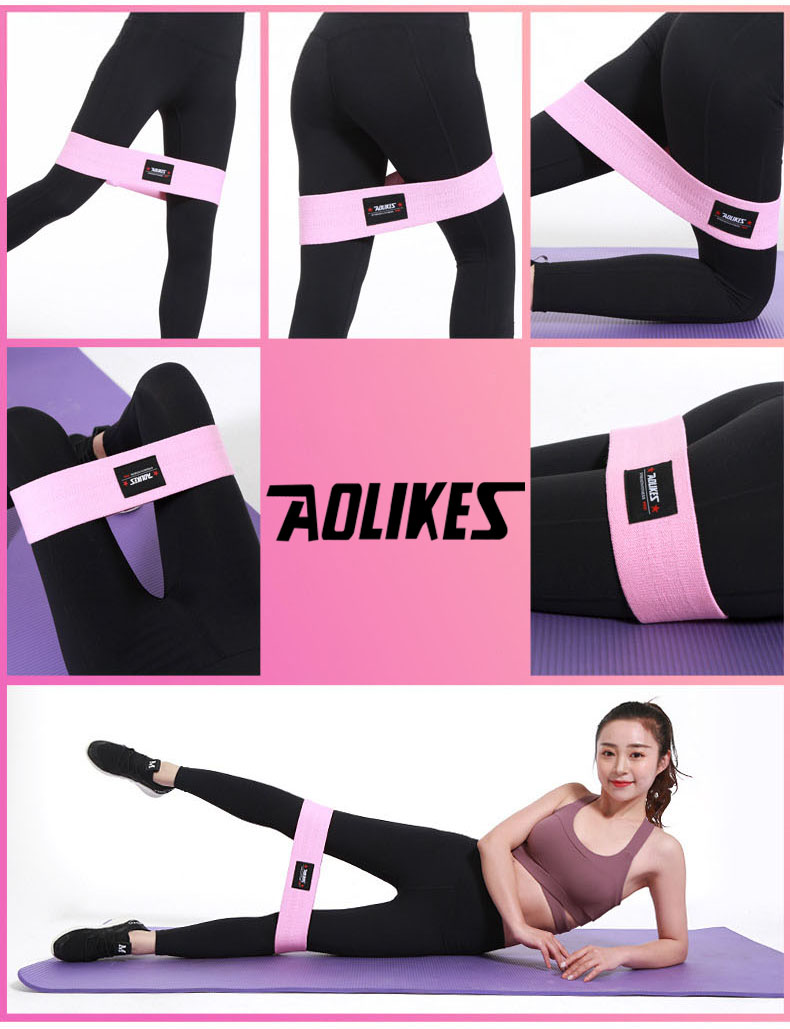 AOLIKES Hip Circle Loop Resistance Band in Non Slip and Non Roll Design for Legs and Thigh 17