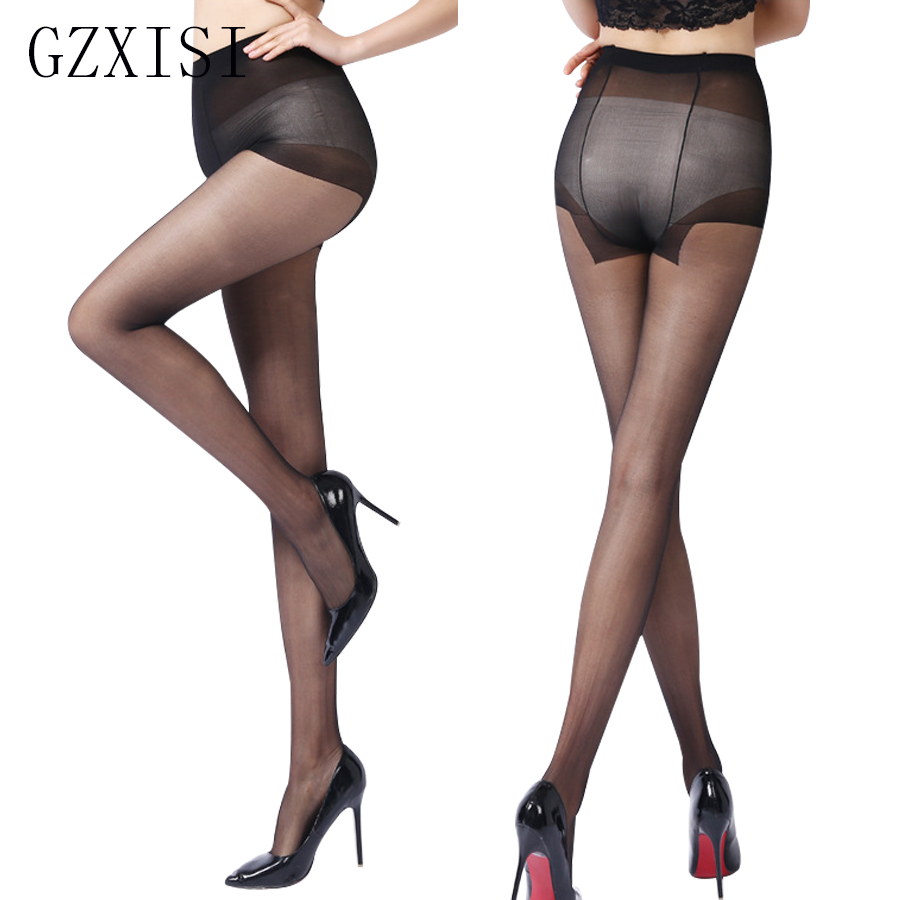 T Crotch Sexy Nylon transparent Pantyhose For Girl Solid Color Fashion Slim Tights Summer Style Spandex Lolita Black Stockings