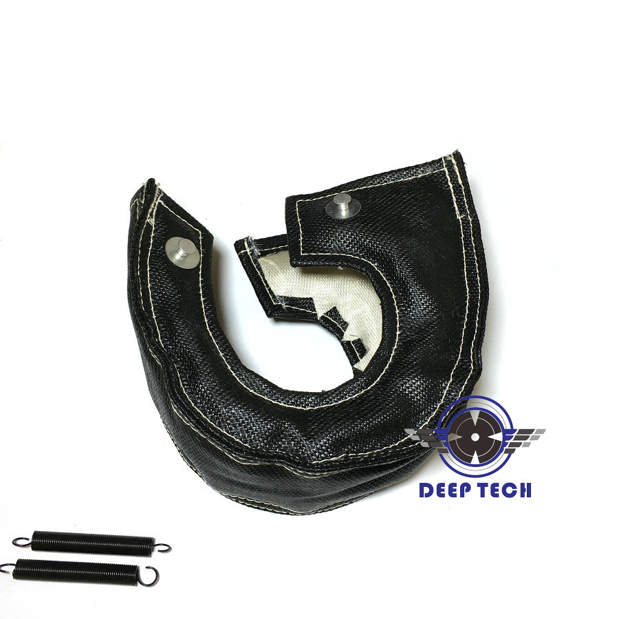 Image 4 - T3 Black Colour Glass Fiber Turbo Blanket Jacket Heat Shield Cover Turbocharger Jacket For T25 T3 Turbo