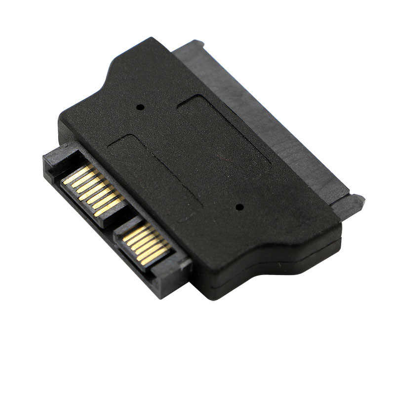 Slimline SATA Adaptor Serial ATA 7 + 15 22pin Male To Slim 7 + 6 13pin Perempuan