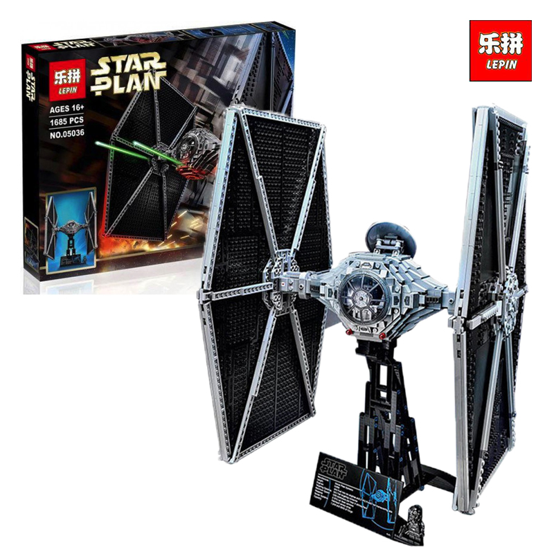 Lepin 05036 1685pcs Star Series War Tie Building Fighter Educational Blocks Bricks legoINGlys Compatible 75095 Brithday Gifts dhl lepin 05055 star series military war the rogue one usc vader tie advanced fighter compatible 10175 building bricks block toy