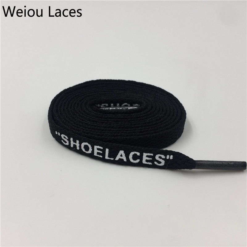 Weiou PrintingSHOELACESBLACK White Orange Green Laces For Replacement Off-White The Ten INSPIRED shoelaces OW Signed Jointly white
