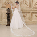 Wedding Veil Long 3M Cathedral White/Ivory Tulle In Stock Lace Cheap Fast Shipping 2017 Accessories Mariage Lace Bridal Veils
