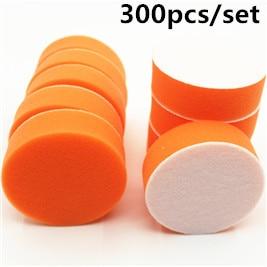"300PC 80mm 3"" flat High Gross Polishing Buffing Pad Kit for Car Polisher Buffer Sponge Clean waxing Auto paint maintenance care"