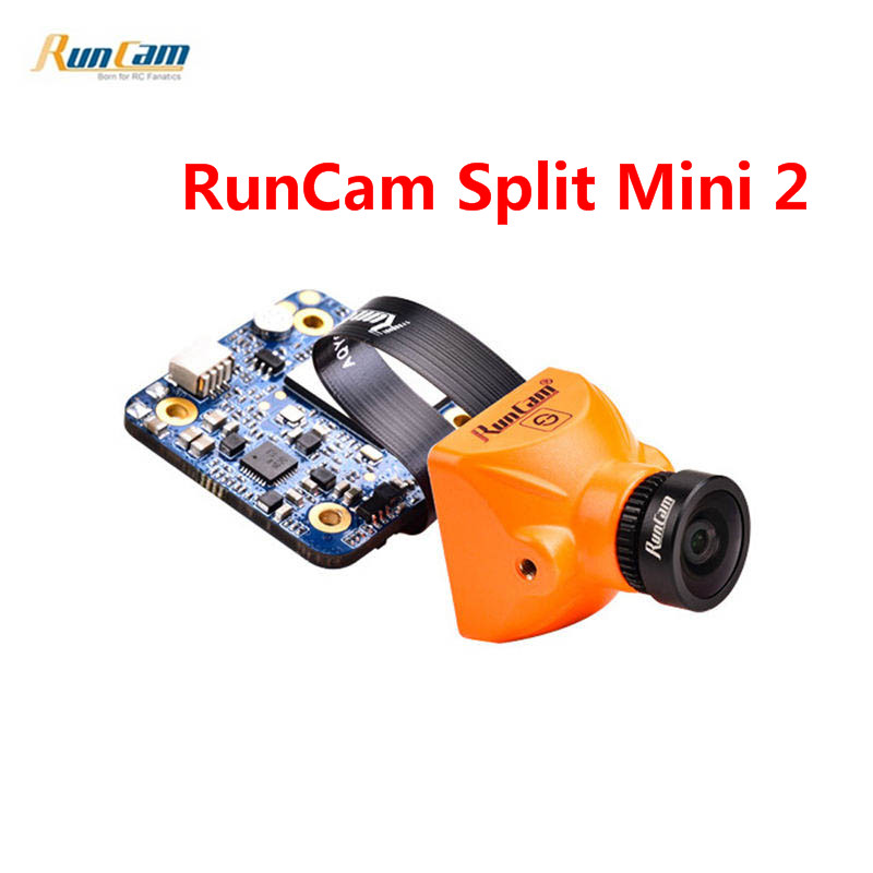 RunCam Split Mini 2 FPV WIFI Camera FOV 130 Degree 1080P/60fps HD Recording & WDR Mini NTSC/PAL Switchable For RC Models Toys 100% original new runcam 2 fpv hd camera av out fpv camera runcam2 1080p 120 angle wifi for walkera qav250 rc racing drone
