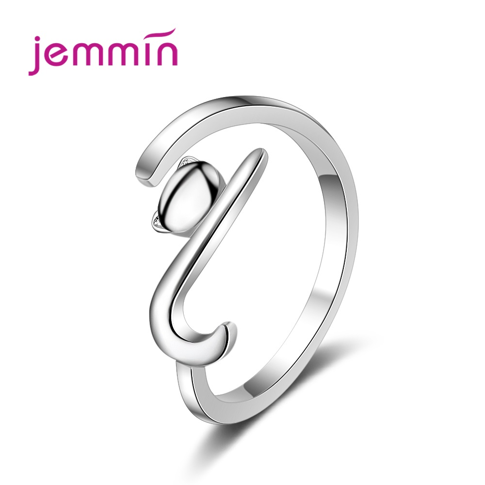 Hot Sale Simple Cute Cat Design 2019 Women Metal Adjustable Rings Knuckle Finger Ring Birthday Gift For Girls(China)