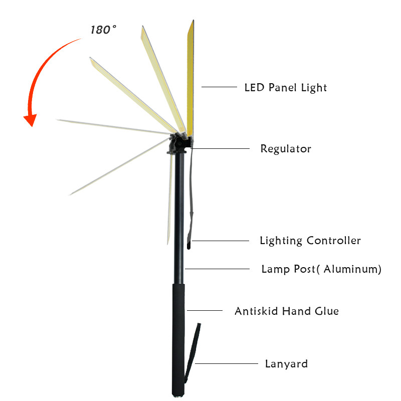 Image 4 - 3M Telescopic LED Fishing Rod Outdoor Searchlight Camping Lantern lamp for Road Trip Self drive Travelling with Remote Control-in Portable Spotlights from Lights & Lighting