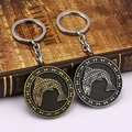 free shipping Game of Thrones Shield Round Coin Metal A Song of Ice and Fire fish Keychain Pendant Key Chain Chaveiro Key Ring