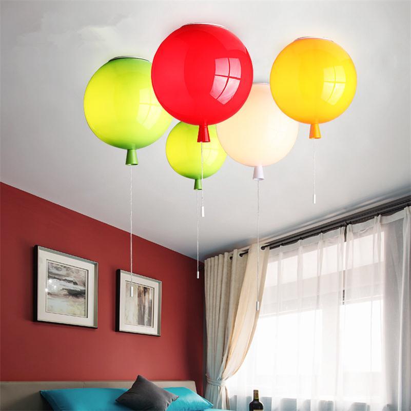 Ceiling Lights Lights & Lighting Romantic Colorful Balloon Ceiling Lights Baby Childrens Room Cozy Lamp Lustre Luminarias Minimalist Plafonnier Moderne Lamparas De Techo