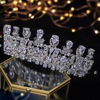 2018 New Arrivals Zircon Wedding Tiaras Crystals Bridal Tiaras Queen Crowns Hair Jewelry Wedding Crown Hair Accessories