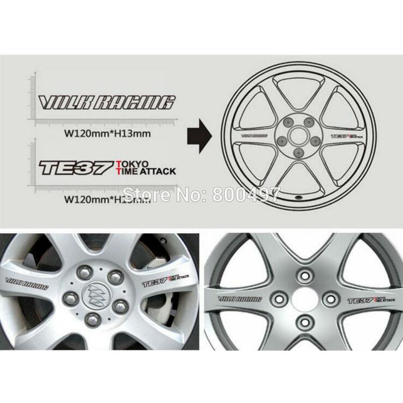Us 1759 12 Off40 X Nieuwste Grappige Auto Velg Decoratie Sticker Serie Auto Accessoires Decal Voor Volk Racing Te37 Tokyo Tijd Aanval In Auto