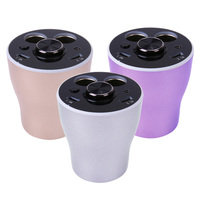 Blutooth Dual USB DC 12V 24V Cup Shaped Multifunctional Cigarette Lighter USB Car Charger for Phone IPad GPS Car styling 3 Color