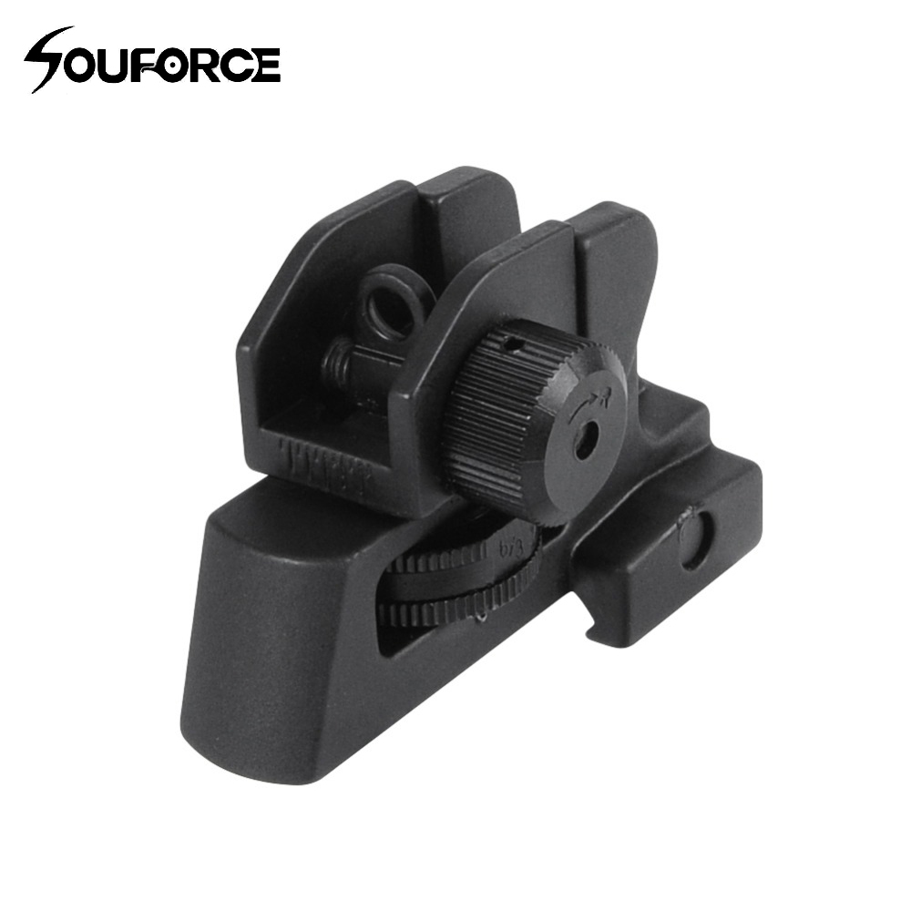 Afneembare AR dubbele openingen A2 Rear Sight past op 20 mm Mount alle platte toppen van Hunting Gun Rifle Sight-accessoires