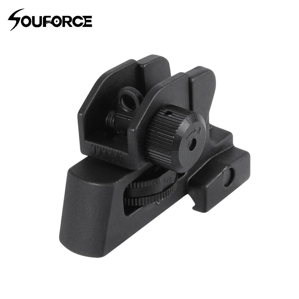 Vista posterior desmontable AR Dual Apertures A2 Se adapta a 20 mm Monte todos los topes planos de los accesorios de la mira del rifle de la pistola de caza