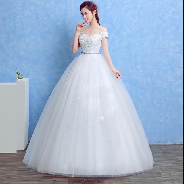 4eb40d9e314 Lamya Bretelles Encolure Cristal Simple Robe De Mariage De Cru Fleurs  Appliques Romantique robe de Bal