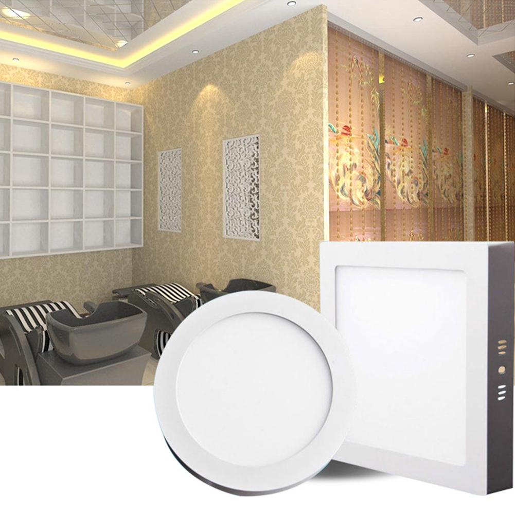 New TSLEEN Round Square Surface Ceiling Lamp LED Panel Down Light For Home Commercial Cool Warm White LED AC 85-265V