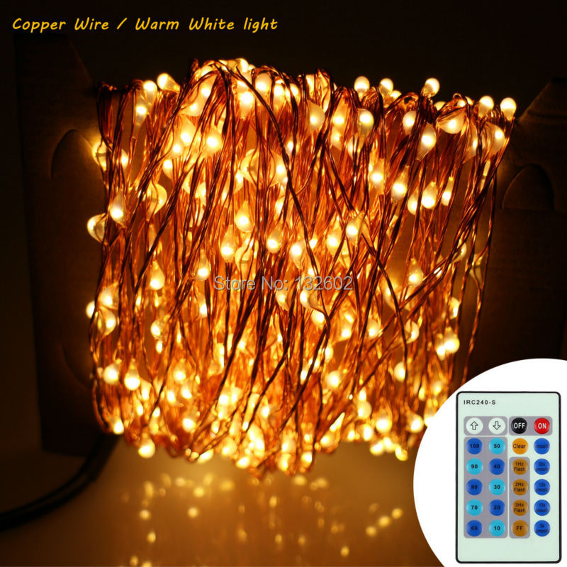 24m 480 Leds Copper Wire/Silver Wire LED String Lights Starry Lights Warm White Christmas Fairy lights+AC Adapter+Remote Control 3 10m series and parallel 99ft 300 led waterproof warm white led string fairy starry light copper wire plug adapter powered