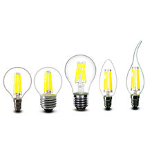 E27 E14 Clear LED Bulb 2w 4w 6w 8w A60 G45 C35 B10 edison candles Lamp light 220v - 230v AC(China)