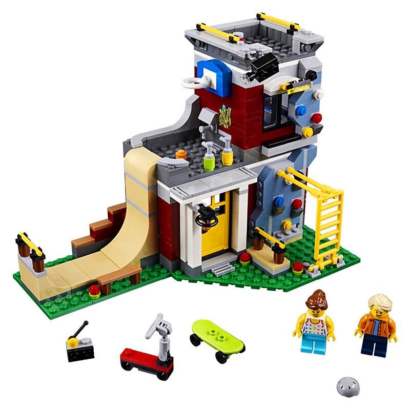 473Pcs Creator City Series Modular Skate House Model Building Block Toys LEPIN 24042 Gift For Children Compatible Legoe 31081