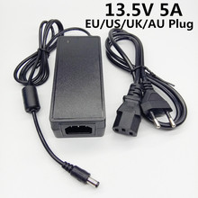 "13.5 V 5A האיחוד האירופי ארה""ב בריטניה AU plug AC DC האוניברסלי מתאם מתח 5000mA 13.5 וולט ממיר כוח אספקת נסיעות מתאם"