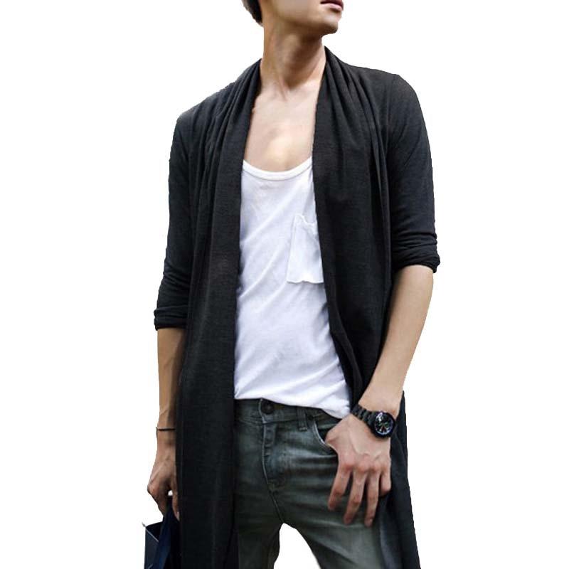 2016 Automne et Printemps Pull Hommes Style Coréen Couleur Unie hommes Cardigan décontracté Cardigans Manche Longue Mode Pulls Pour Hommes