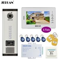 JERUAN 7 Inch LCD Monitor 700TVL Camera Video Door Phone Intercom Access Control Home Gate Entry
