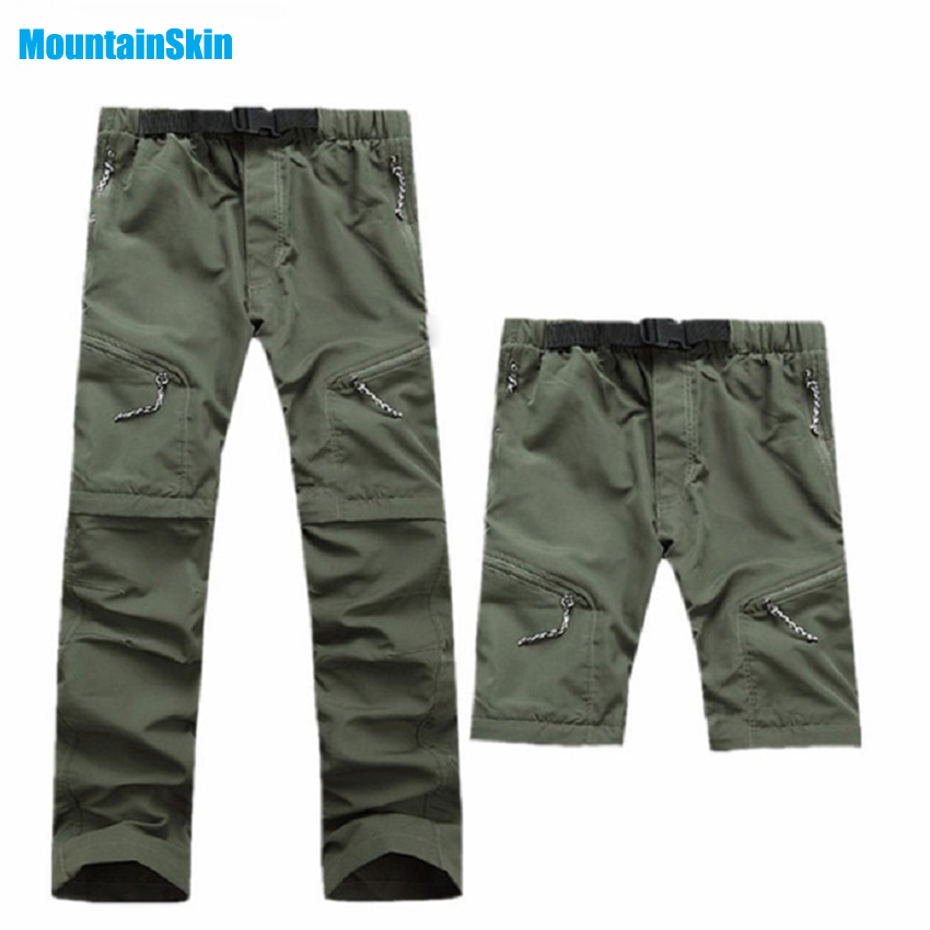 Mountainskin Trousers Trekking Outdoor Quick-Dry Shorts Removable-Pants Fishing Breathable