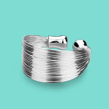 woman 925 sterling silver ring,special 28line design,opening Solid silver ring lady Hyperbole silver jewellery birthday present