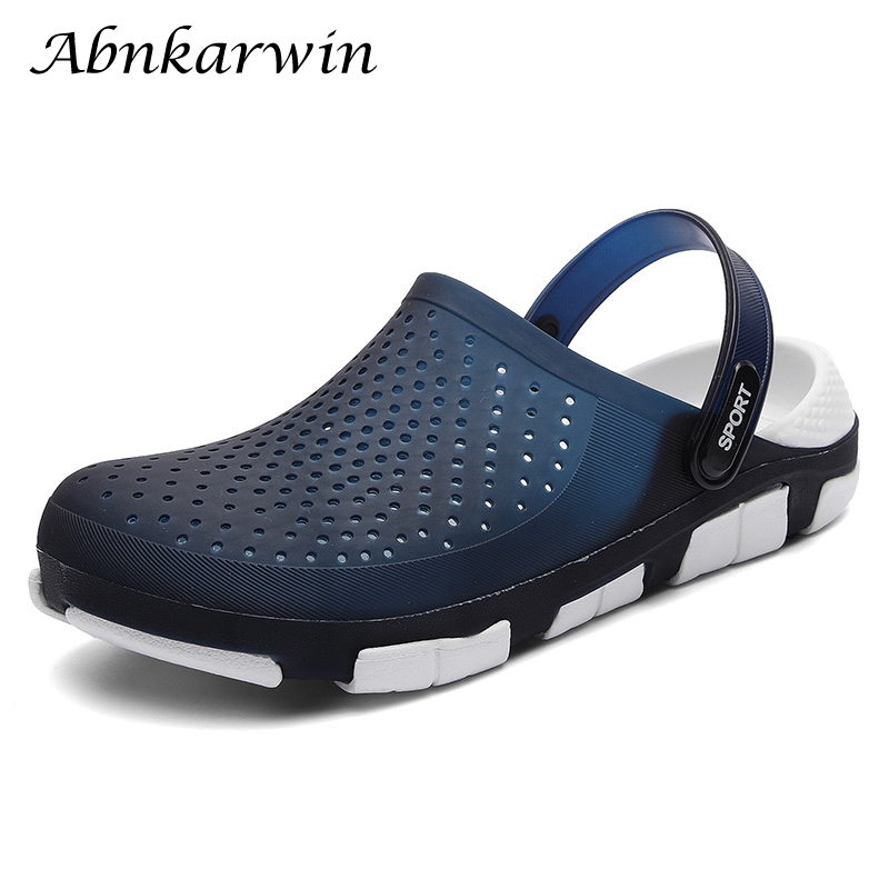 5 Colors Beach Slippers Eva Rubber Fashion Outdoor Slippers Anti-skid Mens Clogs Water Shoes Chef Shoes Rain Sandals