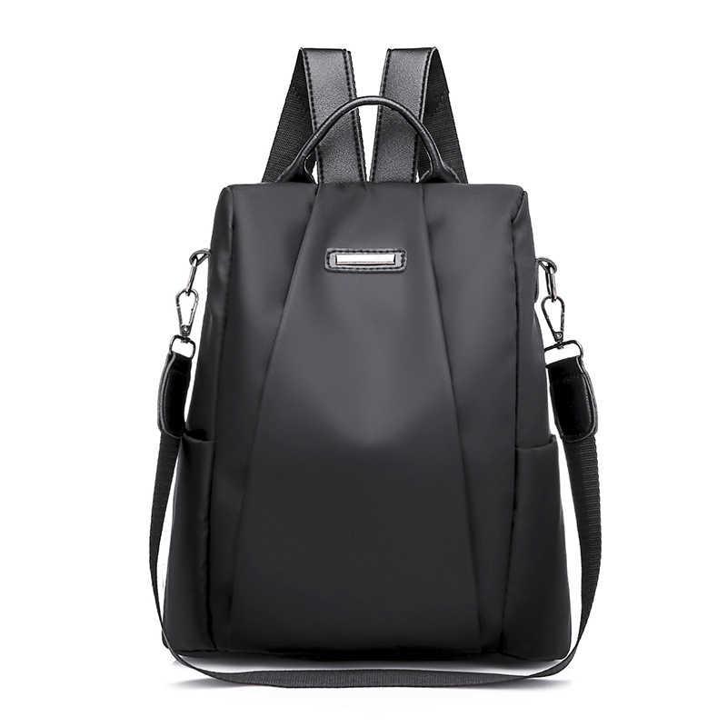 แฟชั่นแล็ปท็อปกระเป๋าเป้สะพายหลังไนลอน Charge กระเป๋าเป้สะพายหลังคอมพิวเตอร์ Anti-Theft กระเป๋ากันน้ำผู้หญิง Oxford ผ้านักเรียนวัยรุ่น