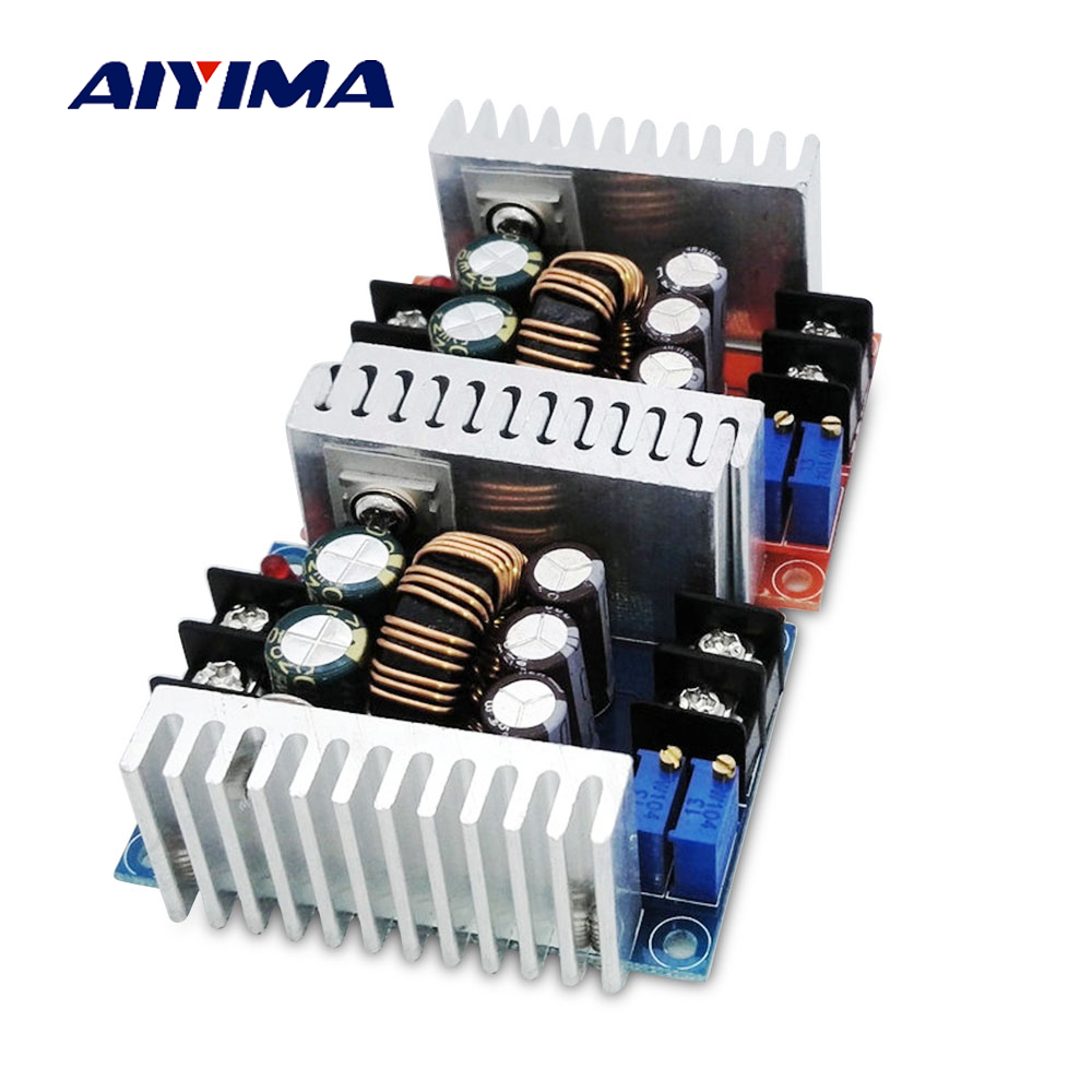 цена на Aiyima 300W 20A Step-Down Boost Constant Voltage Constant Current Power Module LED Charging Drive Board Step Down Voltage