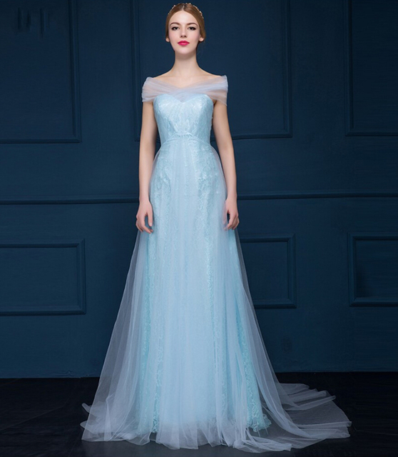 2015 Fantasy Long Tulle Ice A Line Evening Dresses