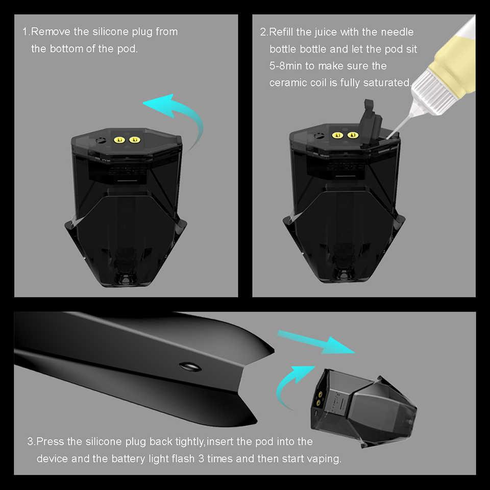 Original Hugo Vapor KOBRA Pod Starter Kit 1 8ml cartridge E cigarette Vape  Refillable Nicotin-Salt Oil Cartridge Vaporizer