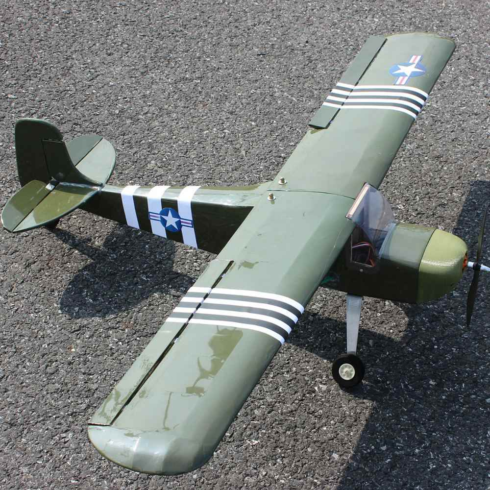 1200 Mm DIY RC Pesawat Balsa Kit J3 Cub